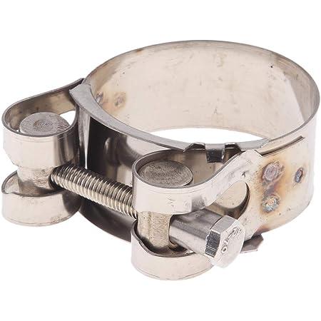 Baoblaze 1 Stück Abgasrohrschelle Edelstahl Gelenkbolzenschelle Auspuff Schelle Auspuffschelle Rohrschelle Für 20 22mm Motorrad Auto