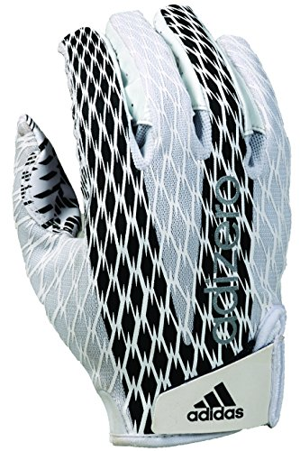 adidas Adizero 4.0 Adult Football Receiver's Gloves, White/Black, 4X-Large