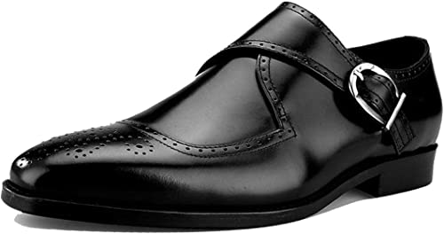 Tallado Hebilla Vino rojo negro Acentuado hombres Negocios Inglaterra zapatos zapatos De Boda Fiesta Trabajo Caballero Bajo