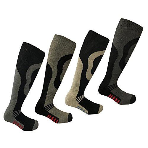 i-Smalls 4 Paar Hochleistungs Boy`s Ski Socken Lang Schlauch Thermal Socken 26.5-30.5