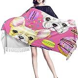 Poncho Mujer Inviernomujeres Cachorro Manta Chal Moda Mexicana Noche Moda Bufandas Diseñador Cachemira Boda Bufandas Invierno Personalizado con Flecos Verano Rebozo-Los 70X200Cm