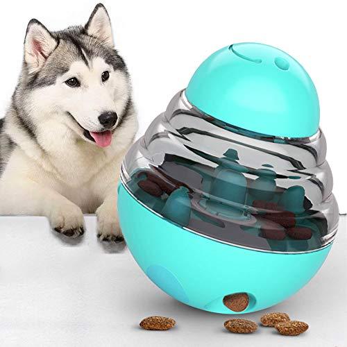 KTL Pet Treat Ball, bola de regalo para perros, dispensador de golosinas, juguetes interactivos para perros con agujero de comida ajustable, bola IQ Treat para perros pequeños y medianos y gatos