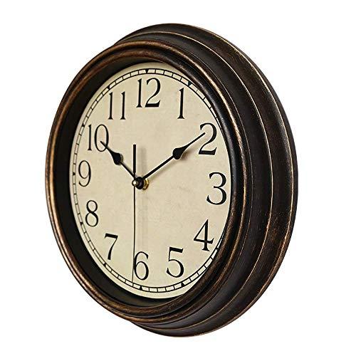 eewopjkj Reloj clásico Redondo de 30 cm Reloj de Pared Decorativo de Cuarzo Retro sin tictac (C 30 cm)