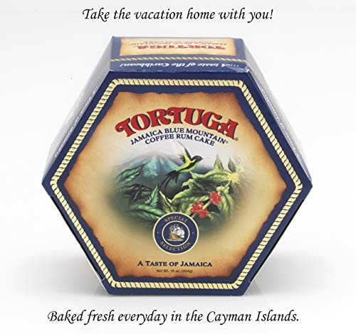 TORTUGA Caribbean Blue Mountain Rum Cake - 16 oz Rum Cake - The Perfect Premium Gourmet Gift for Gift Baskets, Parties, Holidays, and Birthdays - Great Cakes for Delivery