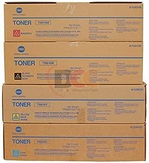 Genuine Konica Minolta TN616 CYMK Toner Set for Bizhub PRESS C6000 C7000