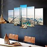 QIXINGFU Lienzo Mural - Pintura del Burj Khalifa De La Ciudad De Dubai- Imagen HD Impresión Artística Imagen Gráfica Decoración De Pared Abstracta, Regalo del Dia De La Madre 100 × 55Cm