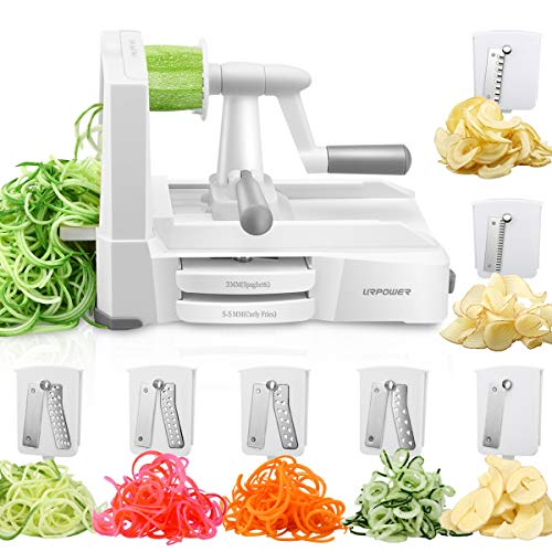 URPOWER Spiralizer Vegetable Slicer 7-Blade Vegetable Spiralizer, Strongest & Heaviest Duty Zoodle...