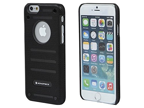 Iphone 6 Case, [Non-slip] Protective SOFT-Interior Scratch Protection [Perfect-fit] Iphone 6 (4.7) Case Industrial Metal Mesh GuardNew [Thin Fit] Premium Polycarbonate Inner Shell and a Steel Mesh Layer That Is Riveted to the Inner Pc Shell with Excellent Grip Matte Hard Case - One of the Best Iphone 6 Accessories to Protect Your Iphone, Using This High Strength Iphone 6 Case - Slim Case for Iphone 6 (4.7) (2014) - Black