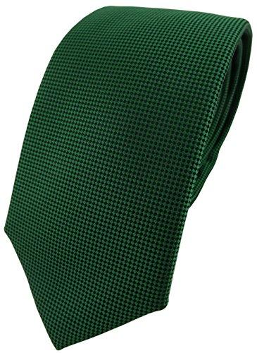 Modische TigerTie Designer Krawatte in grün dunkelgrün schwarz fein gepunktet