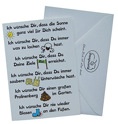 Geburtstagskarte - Ich wünsche dir, dass die Sonne ...