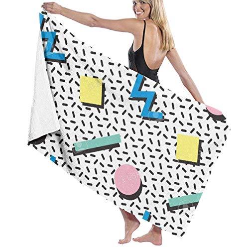 Toallas Shower Towels Beach Towels Bathroom Towels Toalla De Baño Toallas de baño al aire libre con patrón de estilo retro Toalla 130 x 80 CM
