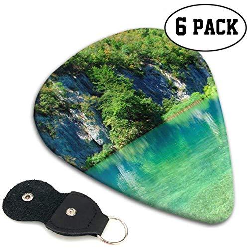 Plitvice Lakes Croatia Lake Park Mountain Bass Guitar Pick Up Kit 6 stuks Heavy, elektrische akoestische gitaarsT