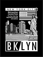 【FOX REPUBLIC】【ニューヨーク ブルックリン】 黒光沢紙(フレーム無し)A2サイズ