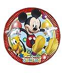 Perona-81840 Pack 8 platos 20 cm, Mickey Mouse, Multicolor, (50861)