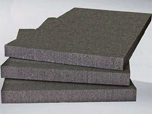 Preisvergleich Produktbild 15 EPS-Styroporplatten 100 x 50 x 3 cm,  EPS 100,  Wärme- und Lärmisolierung,  Farbe: graphit