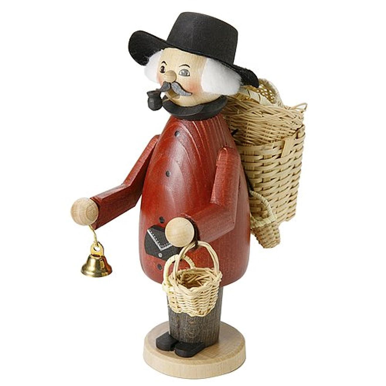 アリ弱い比類のないkuhnert(クーネルト) パイプ人形香炉 150×200mm 「バスケット売り」
