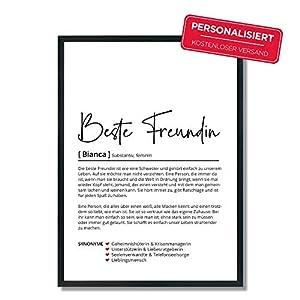 Beste Freundin Definition   Personalisiertes Poster   Schwester   Geschenk   Freundschaft   Geburtstag   Hochzeit…