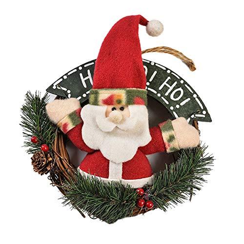 Super1798 - Guirnalda de Papá Noel con muñeco de Nieve para Colgar en la Pared