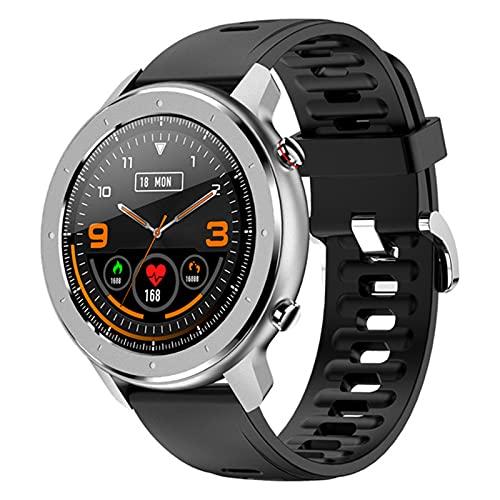 Smart Watch F12 Pantalla Redonda Completa IP68 Pulsera Impermeable Pulsera Corazón Monitoreo De La Presión Arterial Tracker Smartwatch para Android iOS,C