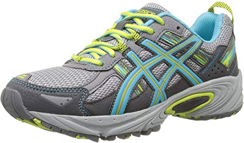 ASICS Women's Gel-Venture 5 Running Shoe, Silver Grey/Turquoise/Lime Punch, 7.5 M US