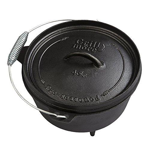GRILL & MORE Essentials, Dutch Oven, Feuertopf, 4 Liter