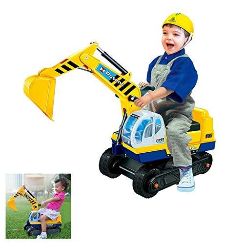 FXQIN Kinderauto Bagger für draußen, Sitzbagger für Kleinkinder Kinderbagger Sandbagger Schaufelbagger, Aufsitzbagger, Kinderfahrzeug mit Schaufeln