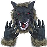Lynkaye Holloween Horror Mask Party Cosplay Costume Werewolf Dress Up Mask - Wolf Head Mask and Claws
