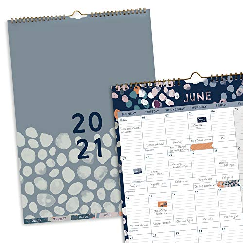 Boxclever Press Perfect Year A3 2021 Calendar. Stunning 2021 Wall Calendar with Monthly Tabs. Family Calendar 2021 runs Jan - Dec'21. Large Calendar 2021 Family Planner with Pocket & Calendar Stickers