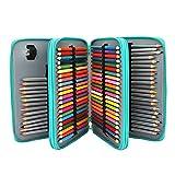 Soucolor 120 Slots Pencil Case PU Leather Handy...