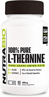 NutraBio L-Theanine Supplement (90 Capsules, 200mg)