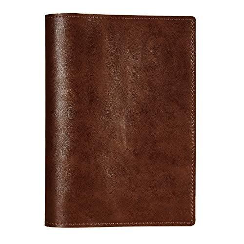 Felicità ブックカバー PUレザー 合皮 しおり付き ポケット付き ノートカバー コーヒーブラウン A6(文庫本) サイズ FTBC02-PU-CB3