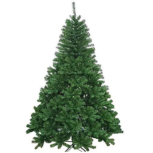 XONIC Künstlicher Weihnachtsbaum Tannenbaum 30,60,90,120, 150, 180,210 240cm Christbaum Baum GRÜN Weiss Schnee (60, GRÜN)