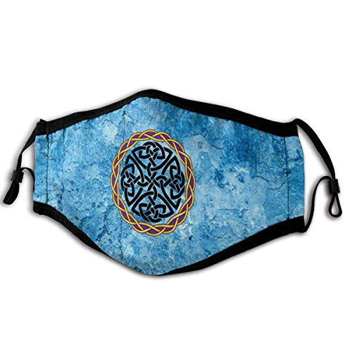 Celtic Cross Knot Irish Shield Warrior Outdoor Mask, Anti-Dust Suitable Windproof Adult Men Women Bandana Black
