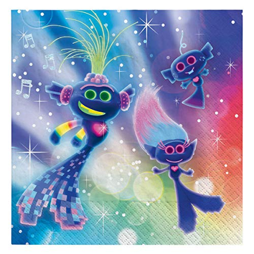 Lowest Prices! Trolls World Tour Beverage Napkins