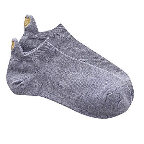 Tosonse Calcetines Informales Para Mujer De Moda Informal Calcetines Negros Irregulares Calcetines De Algodón Con Corazón Calcetines Deportivos Cortos Y Lindos Calcetines Con Forro De Regalo