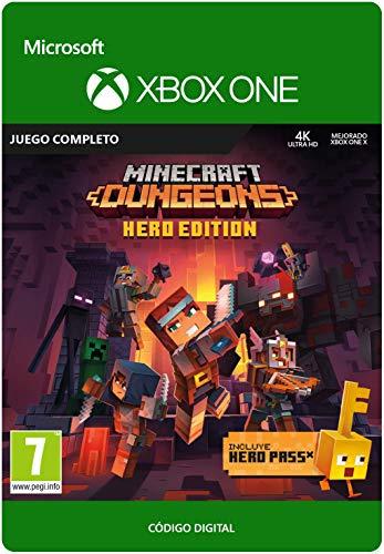 Minecraft Dungeons:  Hero Edition   Xbox One - Código de descarga