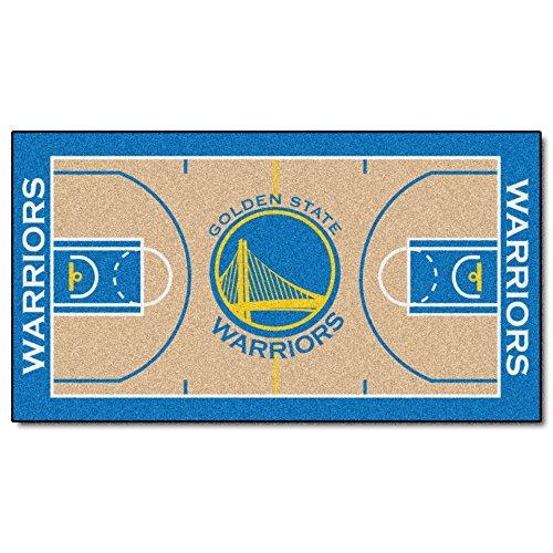 FANMATS  9264  NBA Golden State Warriors Nylon Face NBA Court Runner-Large