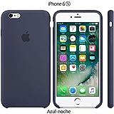 Funda Silicona para iPhone 6 y 6s Silicone Case, Calidad, Textura Suave, Forro Interno Microfibra (Azul-Noche)