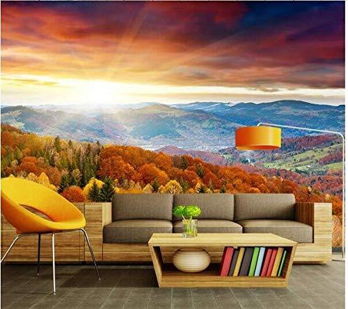 Mural De Paisaje De Montaña Y Lago Personalizado 3D Hotel Sala De Estar Sofá Dormitorio Fondo Revestimiento De Pared Papel Tapiz 5D Papel Tapiz-250Cmx175Cm