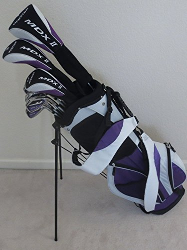 Petite Womens Complete Golf Clubs Set for Ladies 5ft to 5ft 6in Tall Driver, Wood, Hybrid, Irons, Putter