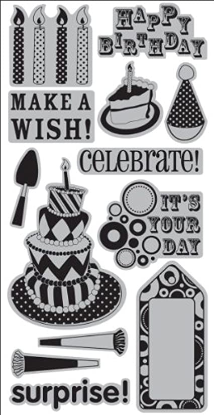 Cling Stamp 4.25X9.5-Birthday