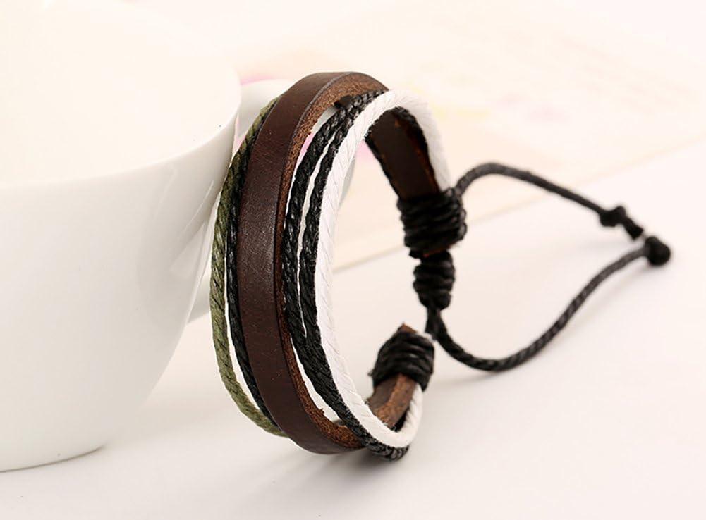 21/cm con originale cordino intrecciato in stile vintage perfetto per un regalo Fablcrew Bracciale da uomo