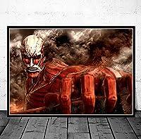 ティタンアニメの装飾的な絵画アートプリント絵画1ピースキャンバスポスターHDの壁の絵のための家の装飾のための壁紙 映画 40x60cmフレームなし