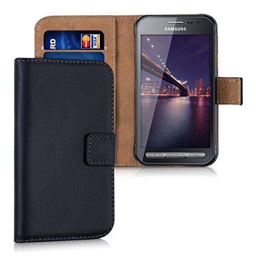 kwmobile Hülle kompatibel mit Samsung Galaxy Xcover 3 - Kunstleder Handyhülle mit Kartenfächern - in Schwarz