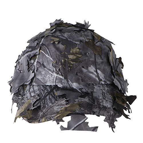 Chapéu de sol de folha da selva 3D para uso ao ar livre, boné de beisebol com tira ajustável para uso ao ar livre, escalada, caça, viagens (camuflagem)