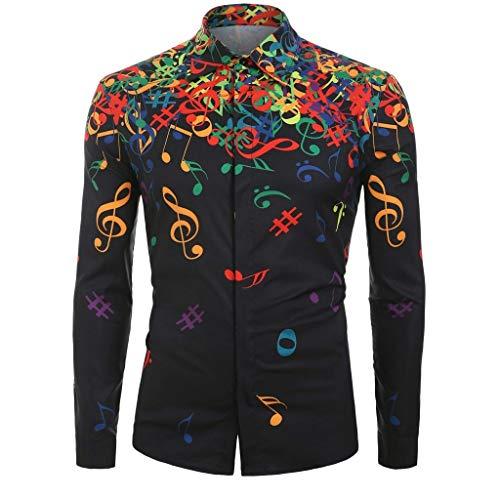 La chemise aux notes de musique colorées