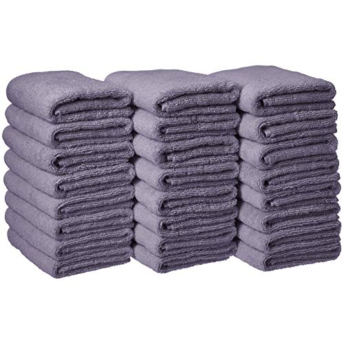 Amazon Basics Cotton Hand Towels, Lavender - Pack of 24
