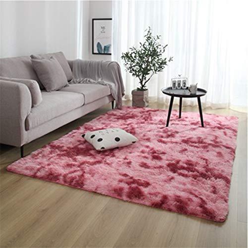 SCAYK Moda nórdica mullida Antideslizante mullida Alfombra Dentada mezclada/Dormitorio Centro Alfombra Negro Gris Rosa Azul Grande tamaño alfombras Grandes alfombras para la Sala de Estar