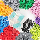 Anksono Building Bricks 1000 Pieces Bulk Toys Kids Building Blocks 11 Colors Compatible with All Major Brands-Add 39 Accessories with Wheels Tires Axles Windows & Doors-For Above 3 Year Old Boys Girls