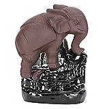 Cono de incienso Soporte de incienso de cerámica Quemador de incienso para el hogar Decoración de yoga de cerámica Decoración de reflujo de elefante